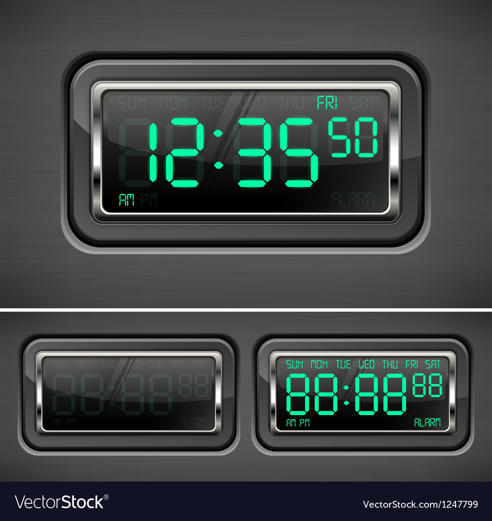 Digital watch vector | Price: 3 Credit (USD $3)