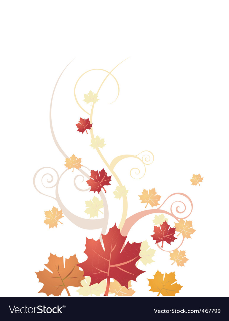 Floral autumn vector | Price: 1 Credit (USD $1)