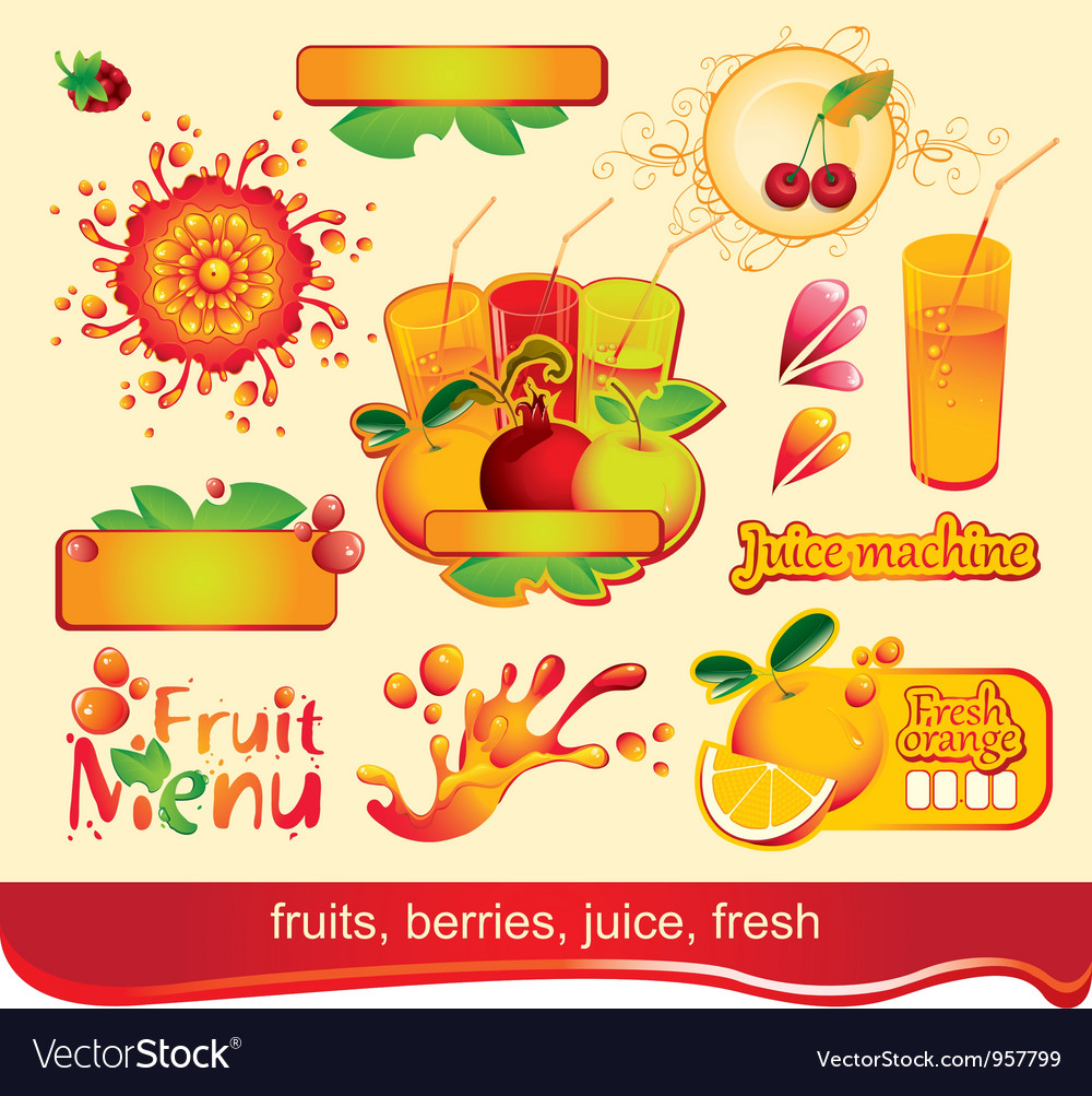 Juices fruit vector | Price: 1 Credit (USD $1)