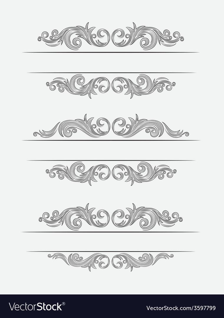 Label classic floral set vector | Price: 1 Credit (USD $1)