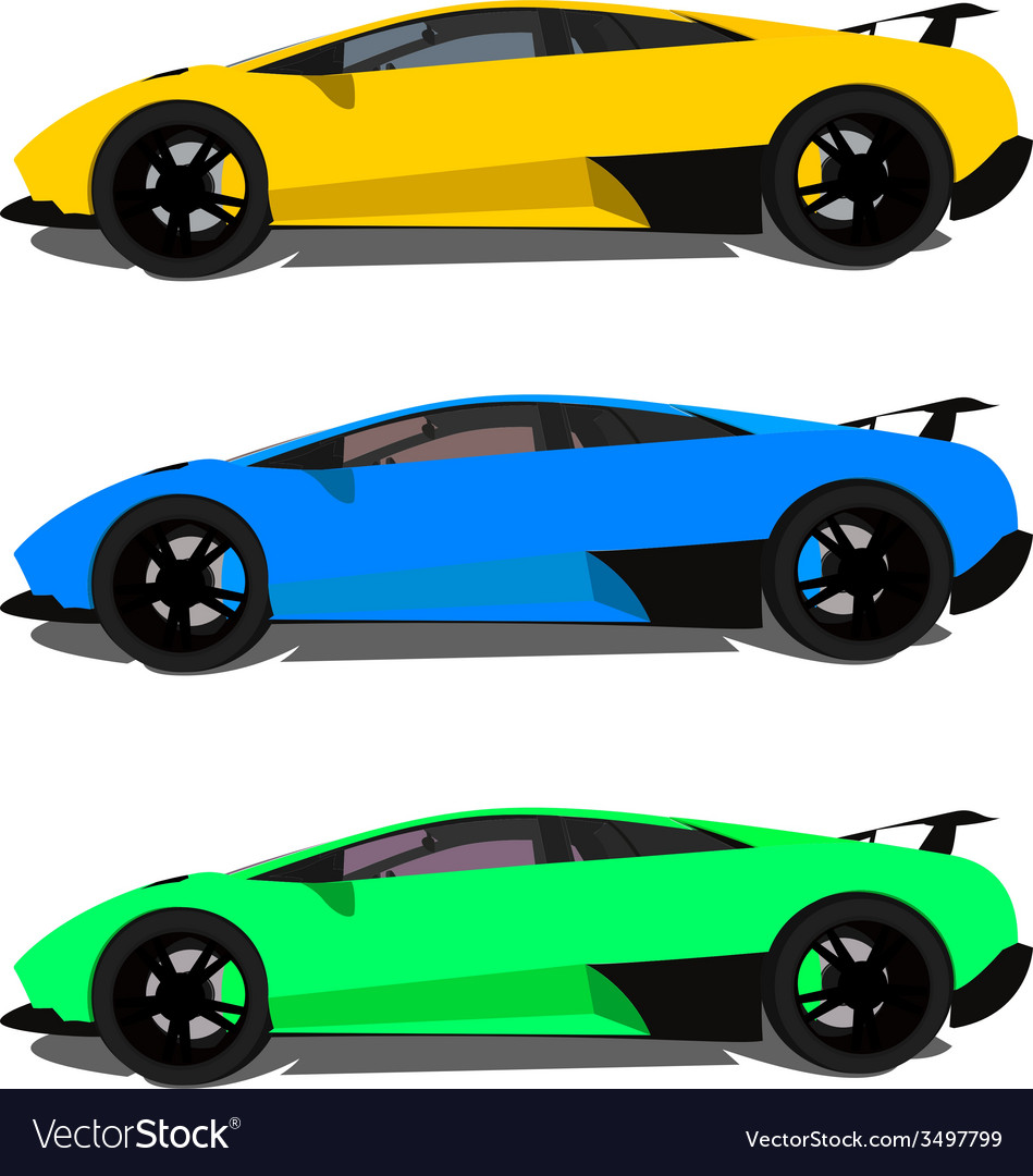 Lamborghini side view vector | Price: 1 Credit (USD $1)