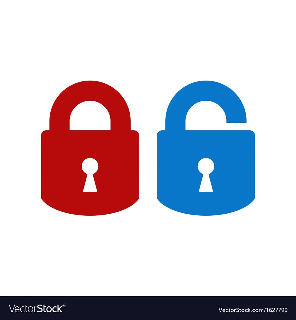 Lock-unlock icon vector | Price: 1 Credit (USD $1)