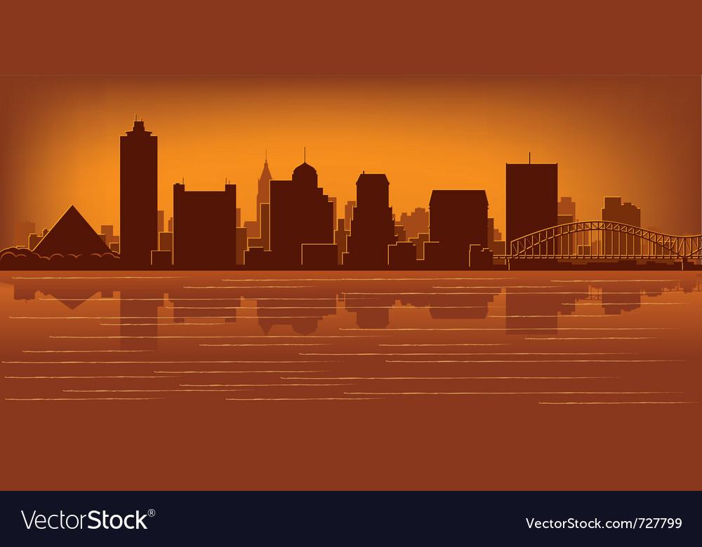 Memphis tennessee skyline vector | Price: 1 Credit (USD $1)