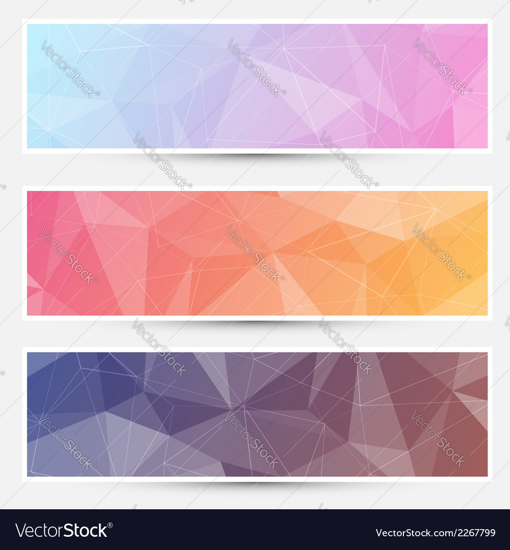 Modern crystal structure banners web vector | Price: 1 Credit (USD $1)