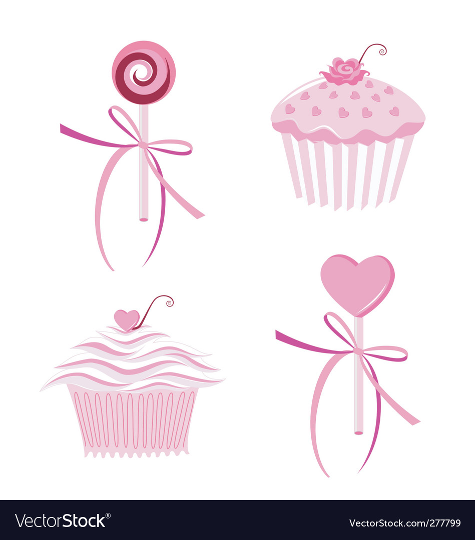 Muffins and lollipops vector | Price: 1 Credit (USD $1)