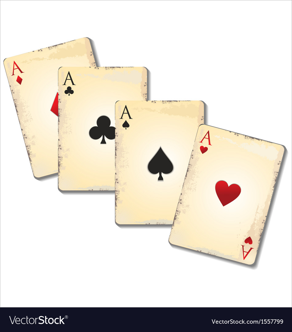 Old playing cards vector | Price: 1 Credit (USD $1)