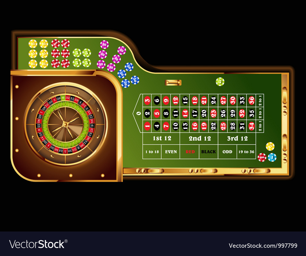 Roulette table vector | Price: 3 Credit (USD $3)