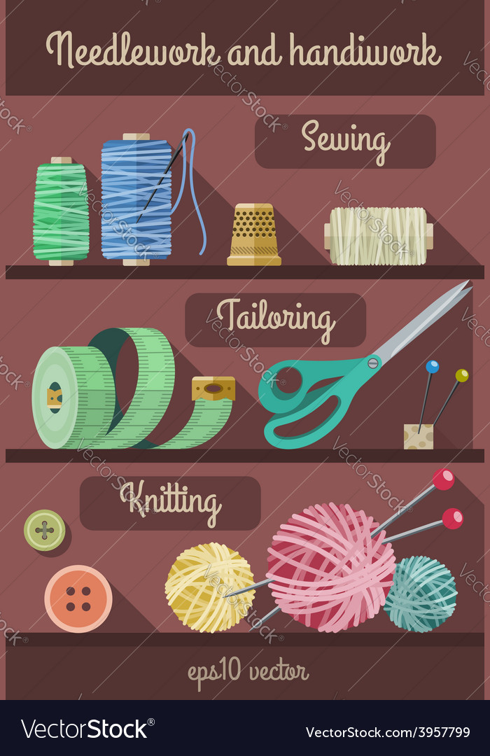 Set of tools and materials vector | Price: 1 Credit (USD $1)