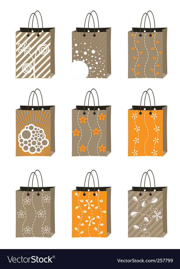 Shopping bag set vector | Price: 1 Credit (USD $1)