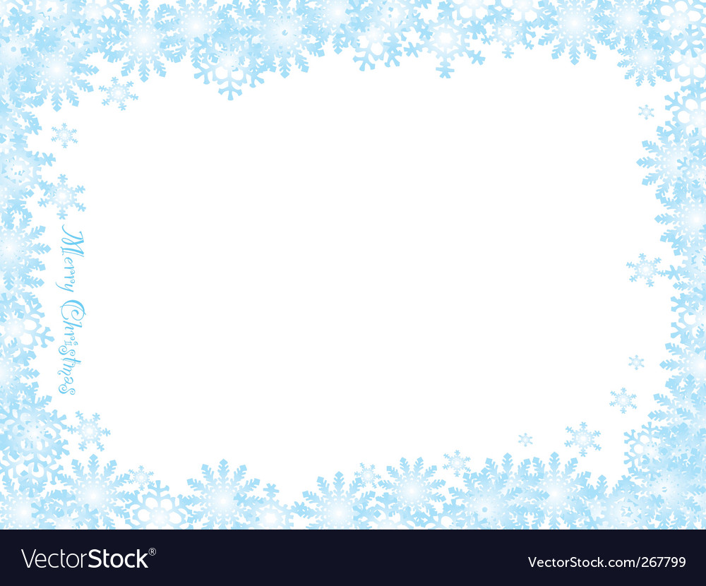 Snowflake christmas white night vector | Price: 1 Credit (USD $1)