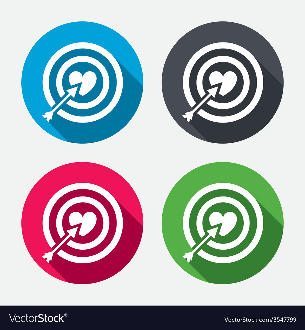 Target aim sign icon darts board symbol vector | Price: 1 Credit (USD $1)