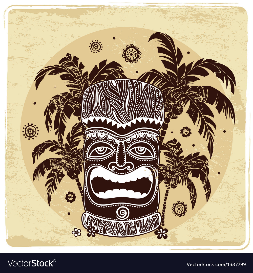Vintage aloha tiki vector | Price: 1 Credit (USD $1)