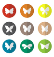 Group of butterfly in the circle vector