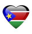 South sudan flag button vector