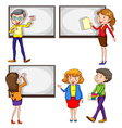 Male and female teachers vector