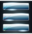 Transparent glass banners with color elements vector
