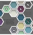 New design hexagons background for website vector