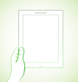 Hand holding tablet 2 vector