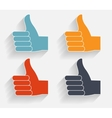 Hand signal on white  eps 10 vector