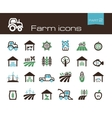 Farm icons part 2 vector