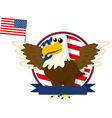 Cute cartoon american bald eagle vector