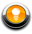 Bulb 3d round button vector
