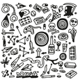 Drugs- doodles set vector