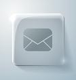 Glass square icon postal envelope vector