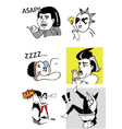 Funny comic people vector