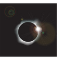 Solar eclipse background vector