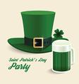 Modern design saint patricks day green hat vector