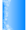 Abstract blue christmas background with white snow vector