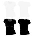 Womens t-shirt template vector