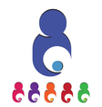 Mom and child taking care logo vector
