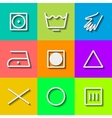 Set of flat wash icons vector