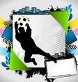 Abstract soccer summer frame vector