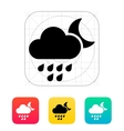 Light rain at night weather icon vector
