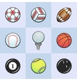 Colored sport balls vector