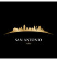 San antonio texas city skyline silhouette vector
