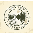 Grunge rubber stamp with sydney australia vector