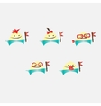 Set of funny characters vector
