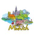 Munich doodles vector