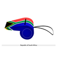 A whistle of republic of south africa vector