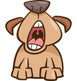 Dog yawn cartoon vector
