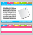 Web template - easy change focus on any tab vector