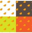 Flat carrots seamless pattern vector
