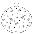 Christmas ball with snowflakes vector