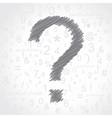 Hand drawn question mark background vector