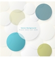 Background with simple white circles vector