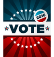 Patriotic 2016 voting poster vector